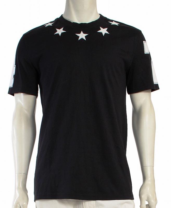 GIVENCHY ジバンシー メンズ Cuban-Fit Star ストリート風 ビッグTシャツ ブラック【送料無料】【美品】ジバンシー