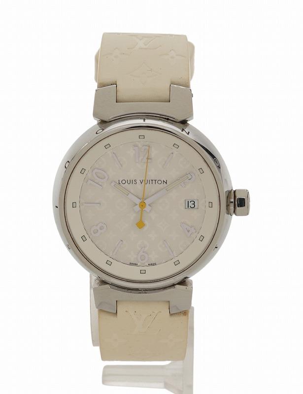 ルイヴィトン 腕時計 Q1313 タンブール ホログラム クォーツ レディース ボーイズ ホワイト【送料無料】【中古】LOUIS VUITTON