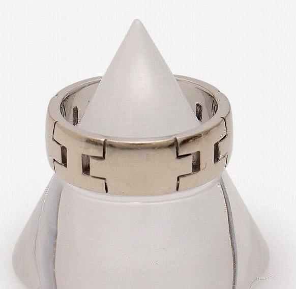 エルメス 指輪 750 9.5g K18WG ヘラクレス リング #53(約13号)【送料無料】【中古】HERMES ring