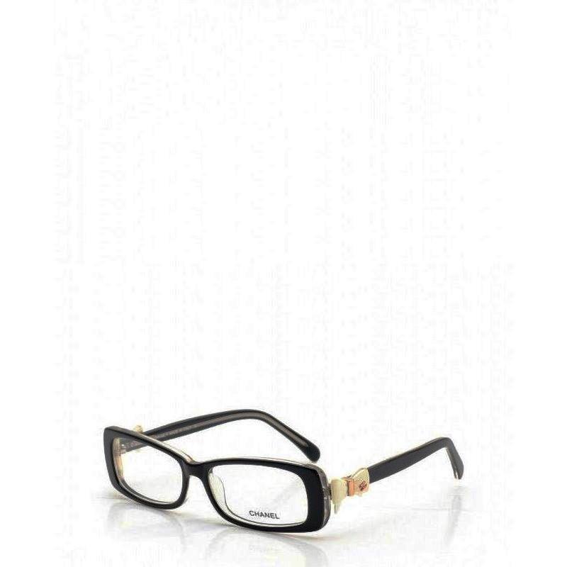 be297180ad25 Chanel CHANEL ribbon glasses black frame here mark glasses glasses black  clear 5520 black edge ...