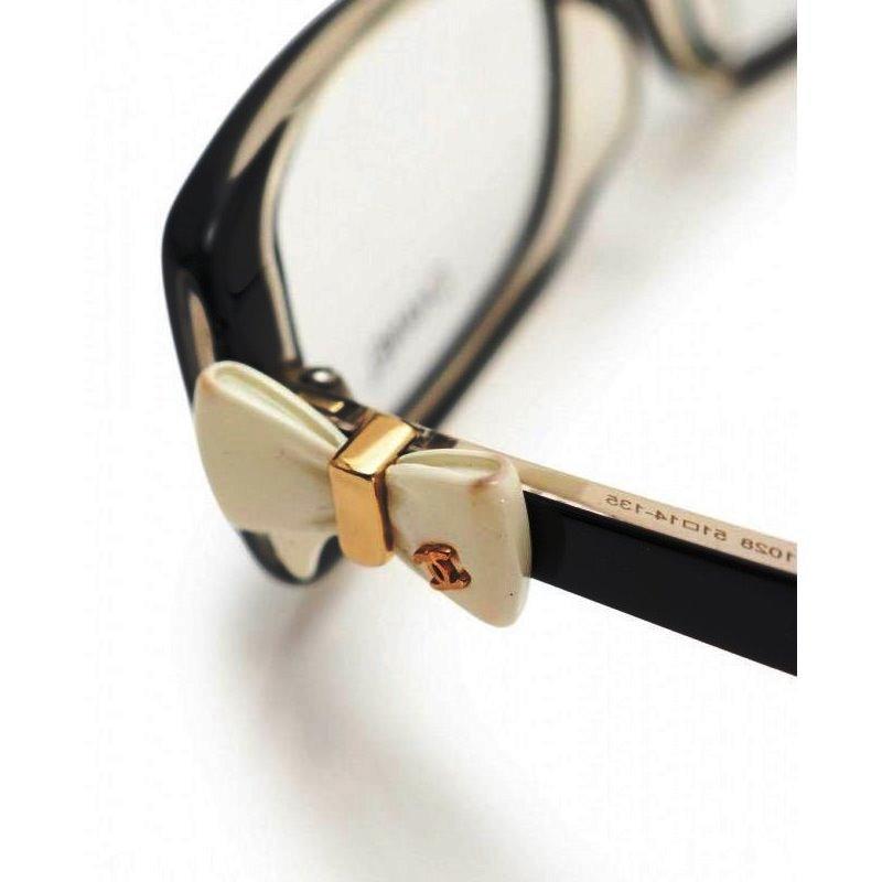 b73e7b5481cb ... Chanel CHANEL ribbon glasses black frame here mark glasses glasses  black clear 5520 black edge ...