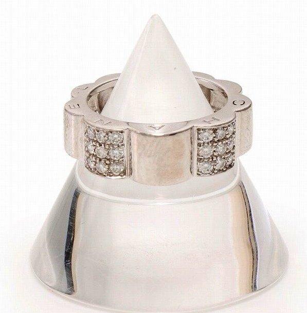 シャネル K18ホワイトゴールド プロフィールド カメリアリング ダイヤモンド 指輪 8号 CHANEL【送料無料】【中古】【ブランド】【コンビニ受取対応商品】