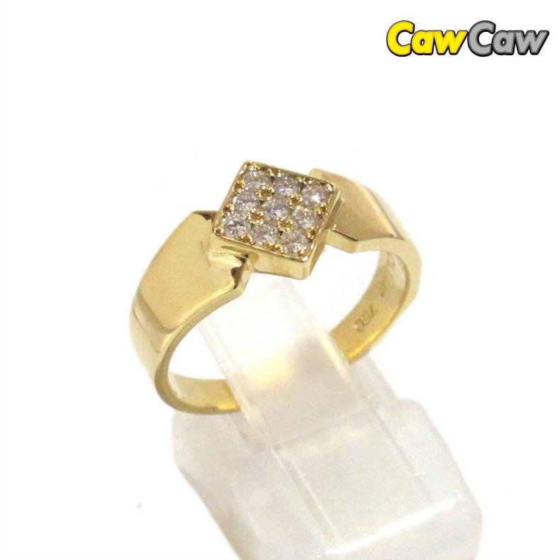 クリスチャンディオール 指輪 K18イエローゴールド ダイヤモンド リング 13号【送料無料】【中古】【ブランド】【コンビニ受取対応商品】