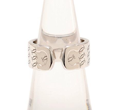 カルティエ C2 ハッピーリング K18WG #50 10号 2000年クリスマス限定 【送料無料】【中古】Cartier 指輪