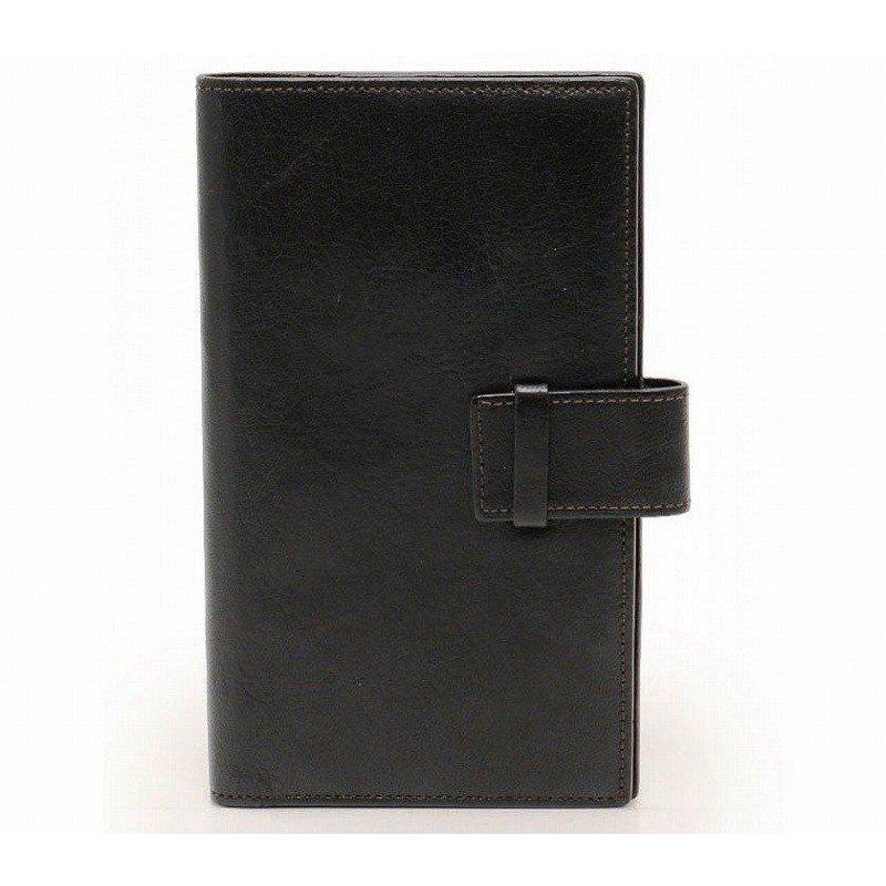 カルティエ 手帳カバー レザー 黒 ロゴブックマーク【中古】Cartier カルティエ ヴィンテージ