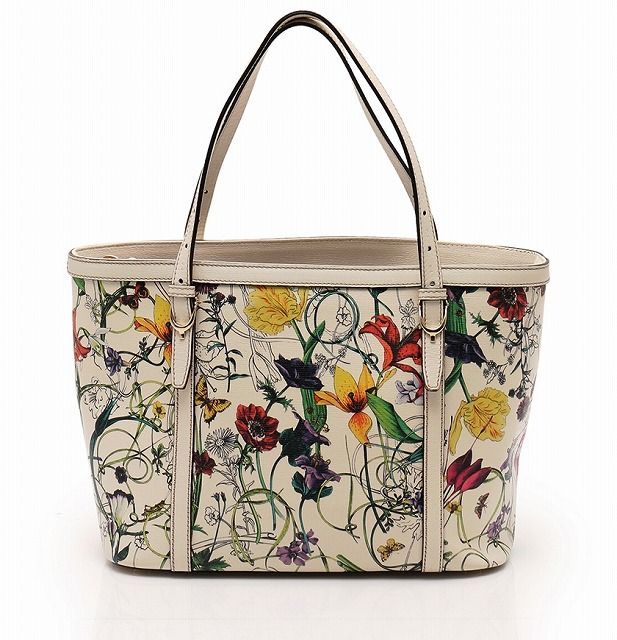 Gucci Flora Bag Flower Print Handbag Tote