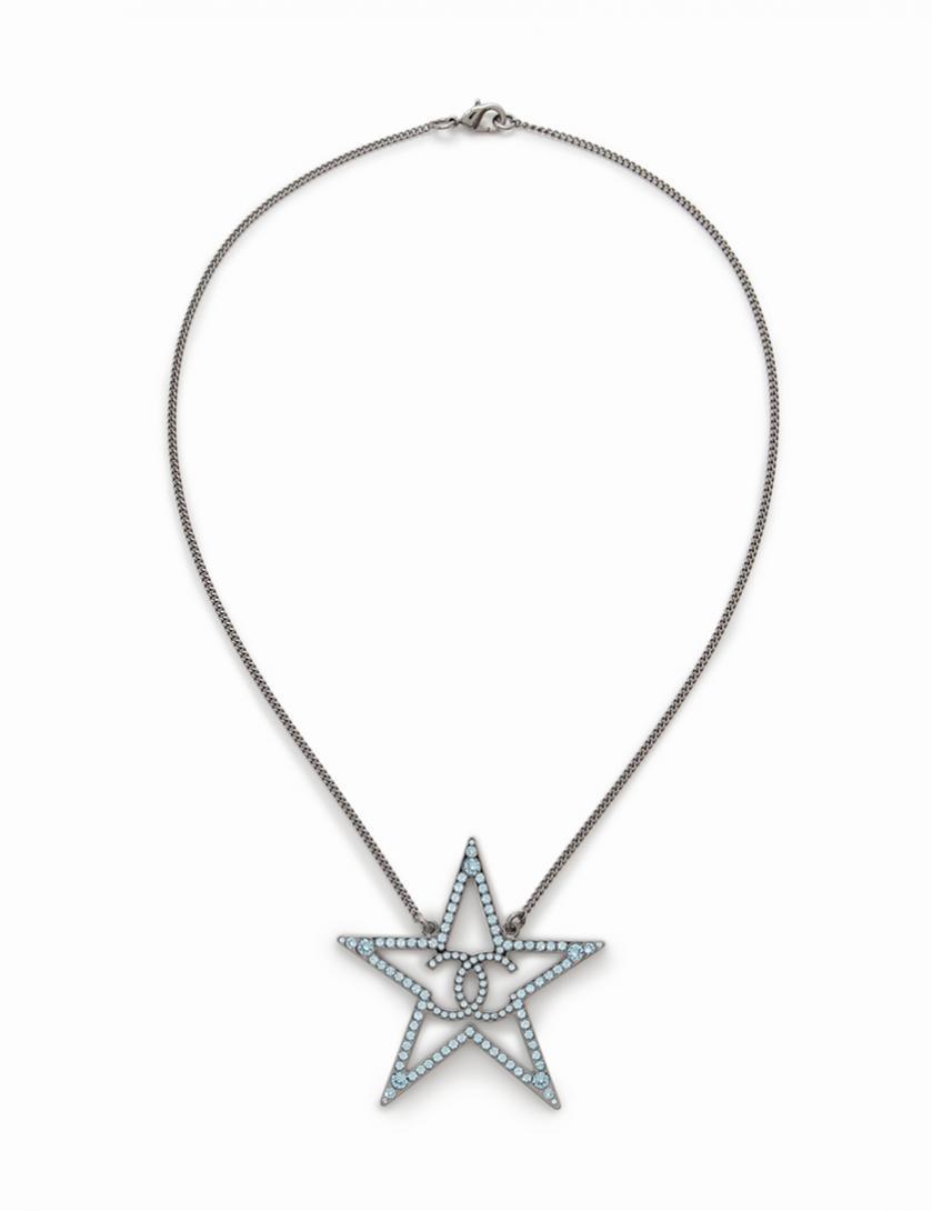 CHANEL シャネル ココマーク ラインストーン 星型 ネックレス【送料無料】【未使用品】