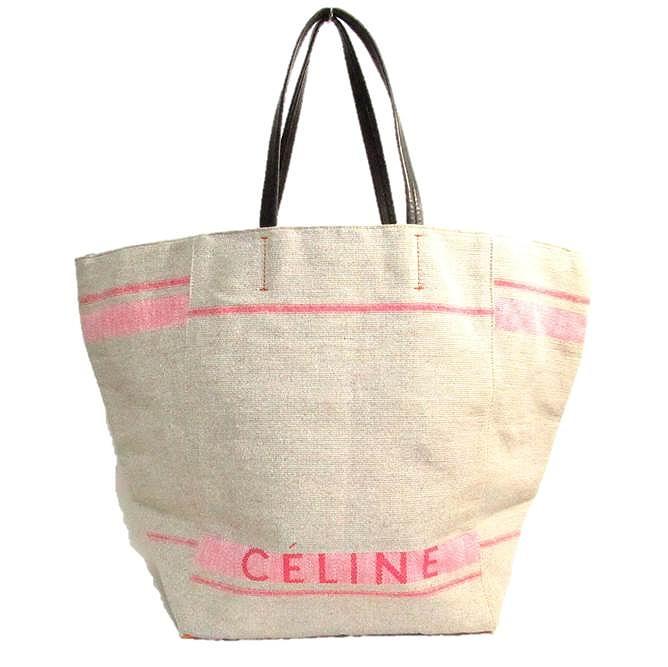 CELINE セリーヌ セリーヌ ロゴトートバッグ【送料無料】【中古】