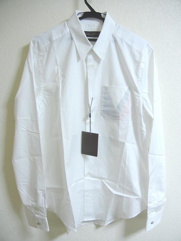 LOUIS VUITTON ルイヴィトン Yシャツ Lサイズ ホワイト【送料無料】【中古】