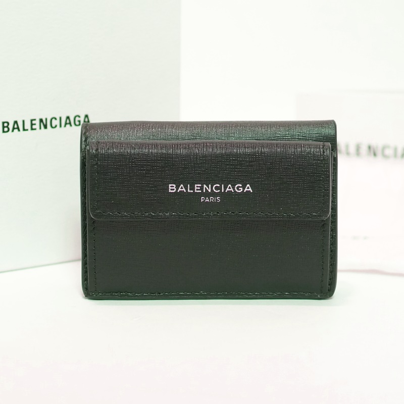 BALENCIAGA バレンシアガ バレンシアガ 三つ折り財布 ブラック【送料無料】【中古】