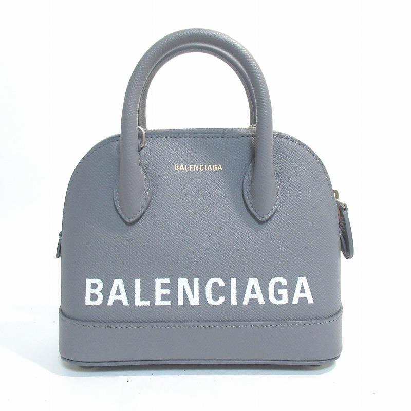 BALENCIAGA バレンシアガ バレンシアガ ヴィル トップ ハンドル バッグ XXS 2way ハンド・ショルダー グレー【送料無料】【未使用品】
