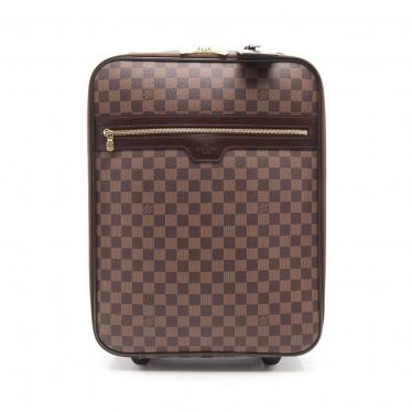 LOUIS VUITTON ルイヴィトン N23293 ペガス45 キャリーバッグ スーツケース ダミエエベヌ ブラウン【送料無料】【中古】