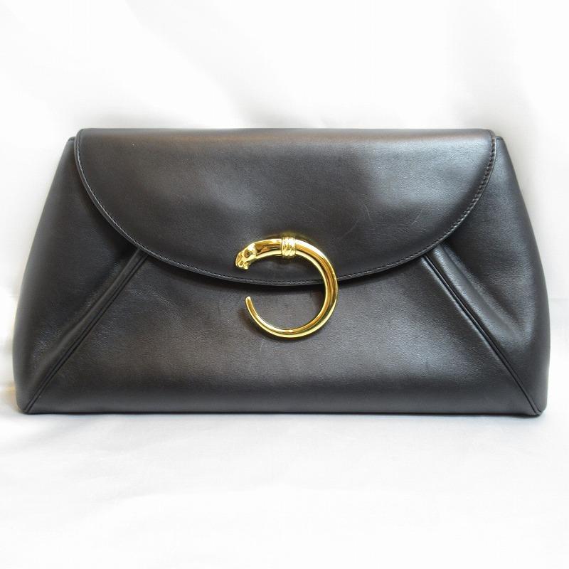 Cartier カルティエ パンサー クラッチバッグ ブラック【送料無料】【中古】