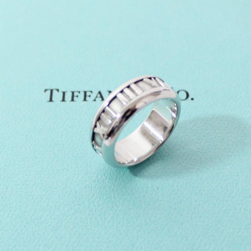 ティファニー K18WG アトラス リング 指輪 9号 ホワイトゴールド【送料無料】TIFFANY&Co.【中古】【ブランド】【コンビニ受取対応商品】