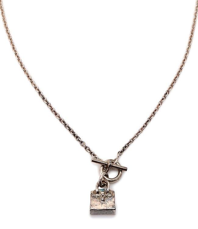 Amulette Birkin エルメス バーキン バッグ モチーフ シルバー ネックレス【送料無料】HERMES【中古】【ブランド】【コンビニ受取対応商品】