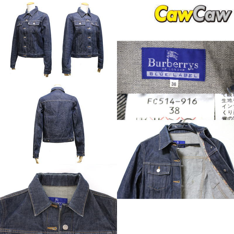 435f7974bf Lafesta CawCaw Rakuten Ichiba Shop  Burberry Blue label denim Jacket ...