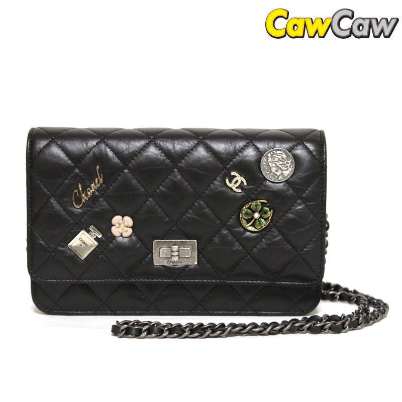 A80442 Lucky Charm Chain Wallet And Bag Embroidery Chanel Clutch