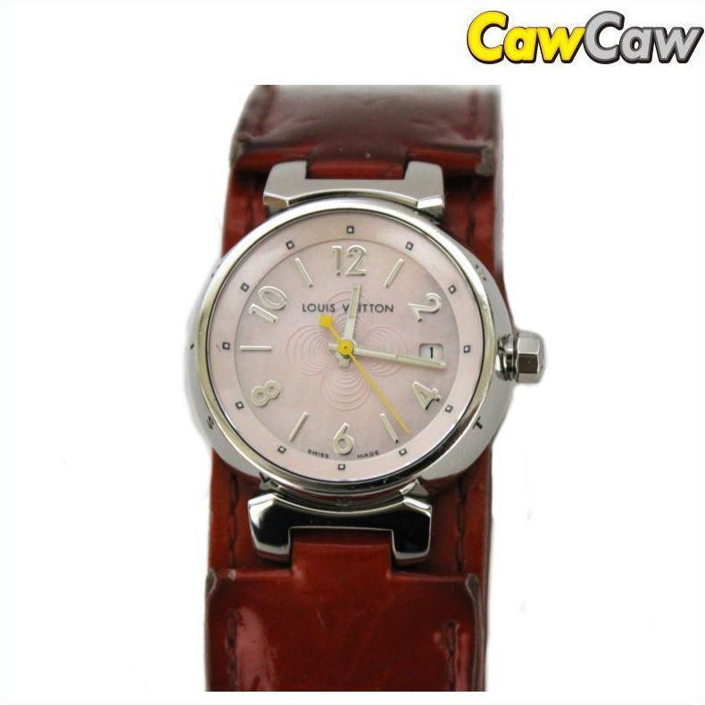 ヴィトン タンブール Q1216 腕時計 クォーツ レディース【送料無料】【中古】LOUIS VUITTON【ブランド】【コンビニ受取対応商品】