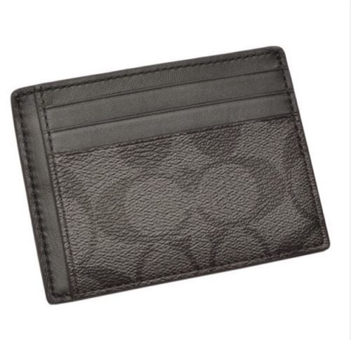 purchase cheap 38011 4d22c Coach men's card PVC signature ID card case charcoal / black F75027 cqnabk  [parallel import goods]