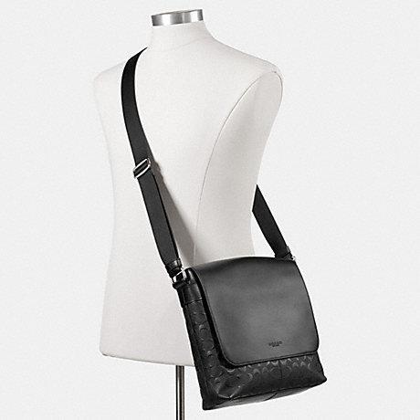 8c828c63699c  Game  COACH men s signature shoulder bag F72220 black (black) Charles  small Messenger signature cross grain leather capdase