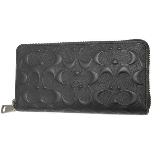 5e13c6617ee7 ... promo code for coach coach men signature long wallet f58113 black black  accordion signature cross grain