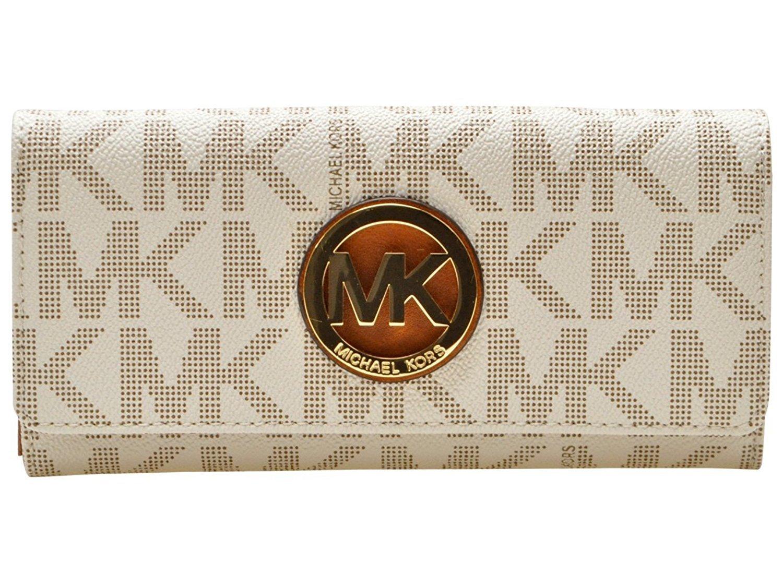ae379ecb26ee52 [Michael Kors] MICHAEL KORS Lady's long wallet 35H3GFTE1B vanilla FULTON  FLAP CONTINENTA [parallel import goods]