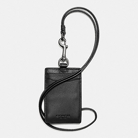 COACH men card case F58114 black orchid yard sports calf [parallel import goods]