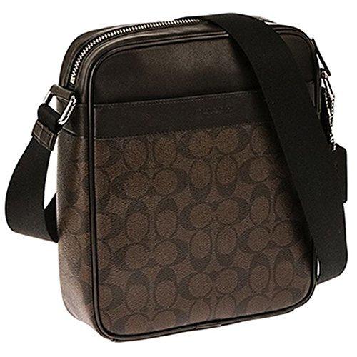 eea8440a53 COACH men shoulder bag flight bag F54788 mahogany X brown MA/BR signature  PVC