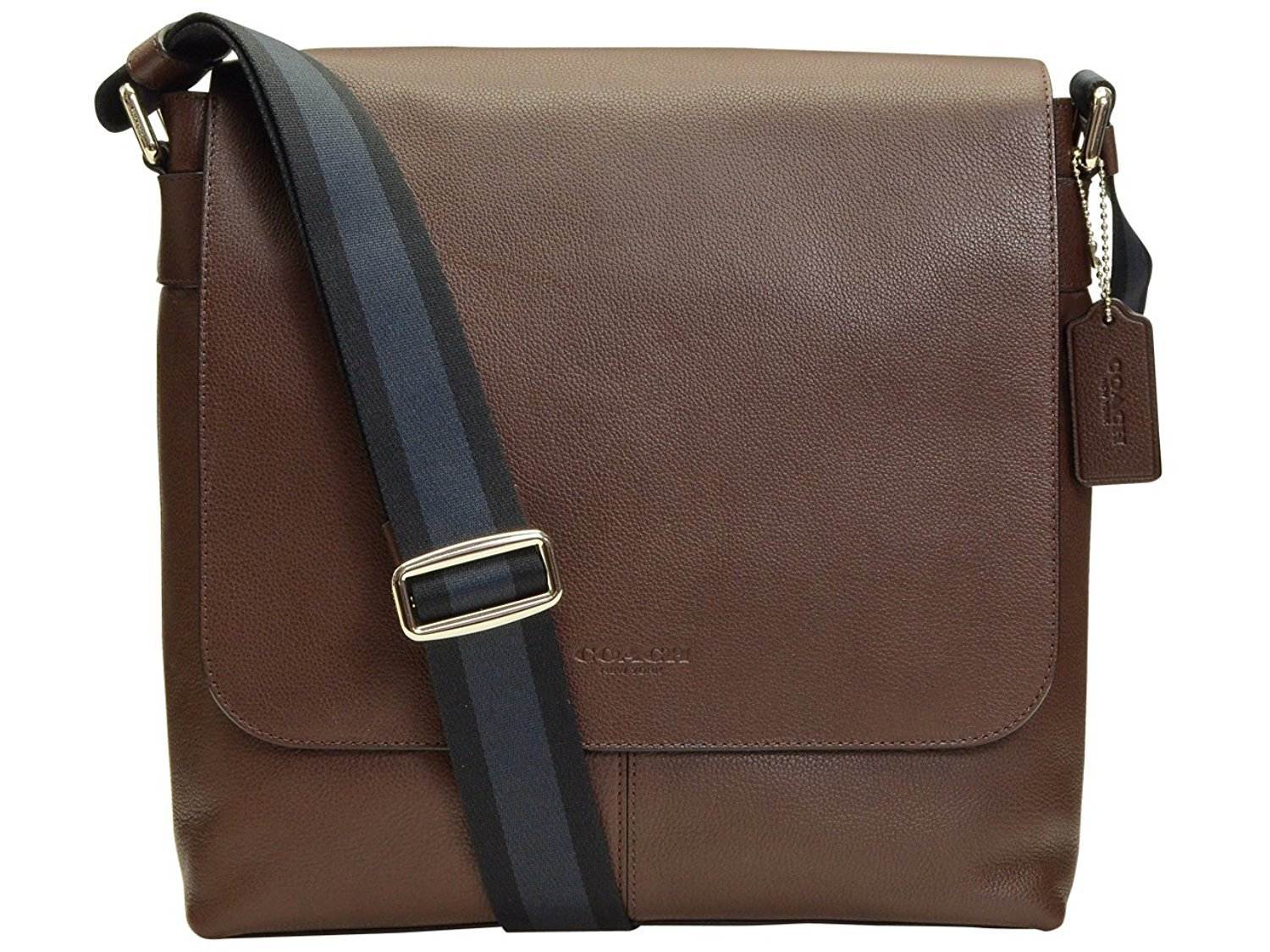 Coach coach men shoulder bag f72362 mah mahogany charless mousse leather small messenger