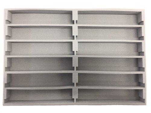 A4ブックケース用中敷ウレタン Nゲージ車両収納用 A4ブックケース対応 交換用12両収納中敷ウレタン お買い得10枚パック