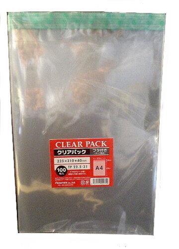 ワンタッチテープつきOPP封筒 DM発送などに最適です 透明 直営限定アウトレット ワンタッチOPP封筒TP22.5-31×100枚 国内正規品 封緘テープつき A4サイズ用