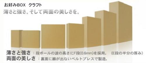 ギフト用小型ダンボール「お好みBOX」NO4×100枚パック