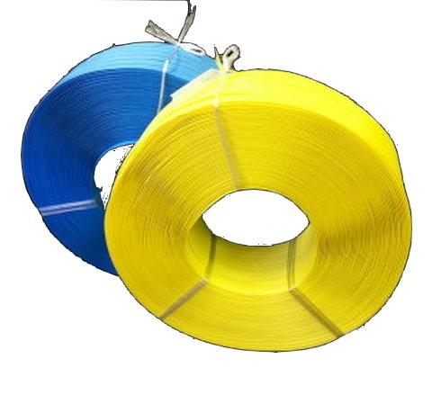 PPバンド15.5mm×1000m×25巻 (黄) 手締め作業用ソフトPPバンド 業務用 法人・店舗・事業所宛一部除き送料無料 5巻単位でカラーアソート可