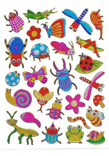 メール便発送OK 当店で大人気 メタリックシール☆-昆虫採集2- シール 激安 プレゼント おもちゃ 希少 超歓迎された