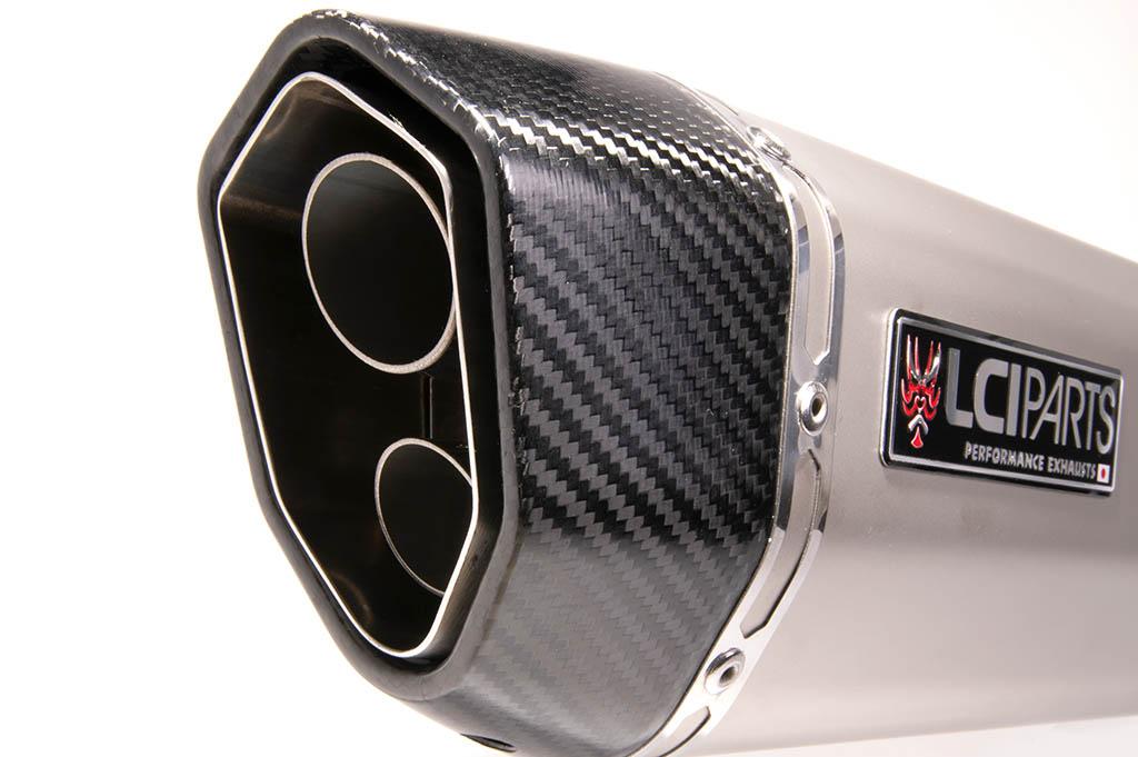 カワサキ ZX-14 ZZR1400 ZX14 2008-2011 LCIPARTS ツインエンド ステンレス スリップオンマフラー