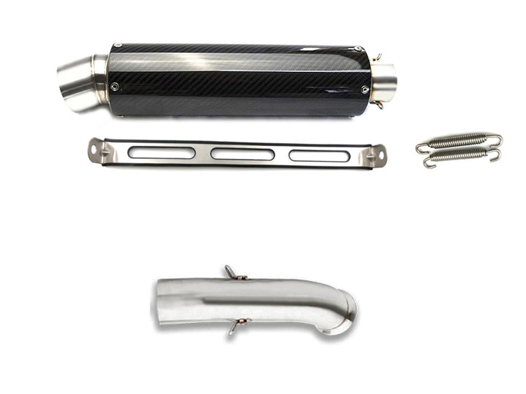 KTM DUKE 125 200 2017-2019 カーボンスリップオンマフラー