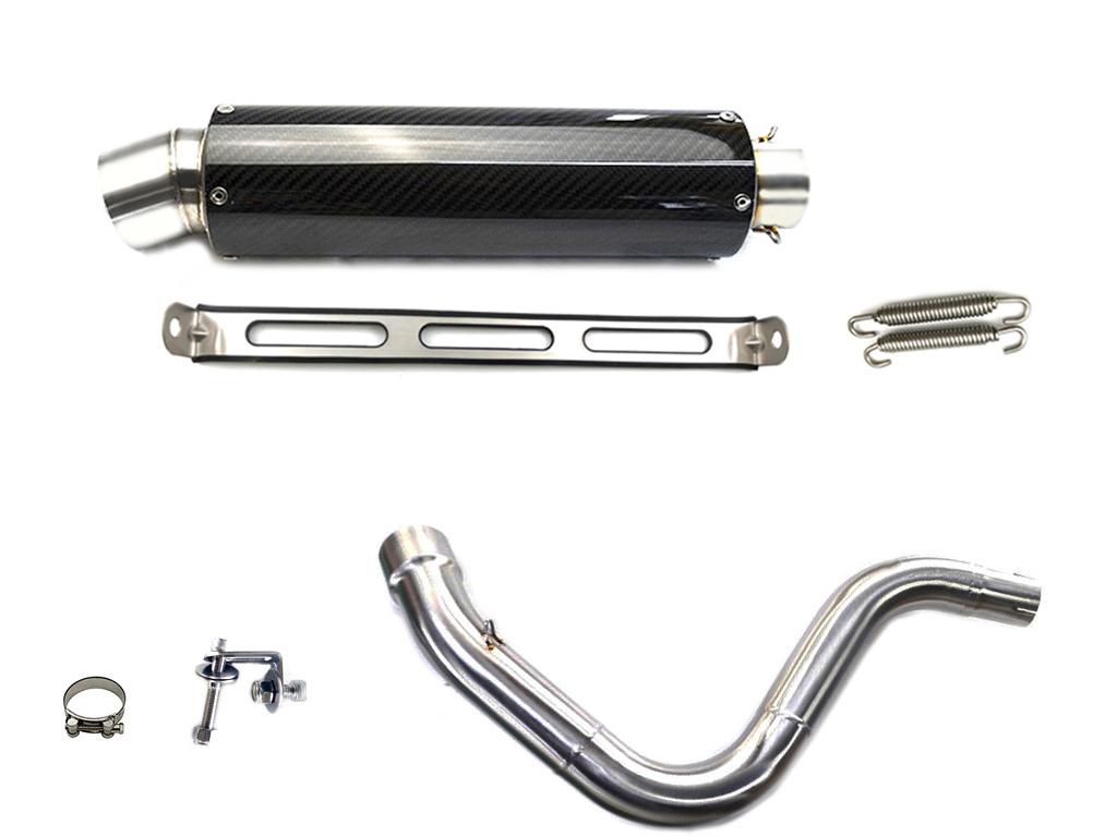 KTM DUKE 125 DUKE200 2011-2016 カーボンスリップオンマフラー