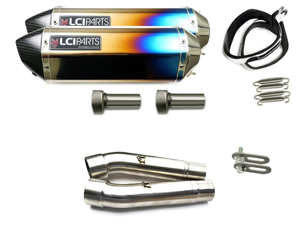 ドゥカティ SS900 SS1000DS SS800 LCIカーボンエンドチタンスリップオンマフラー