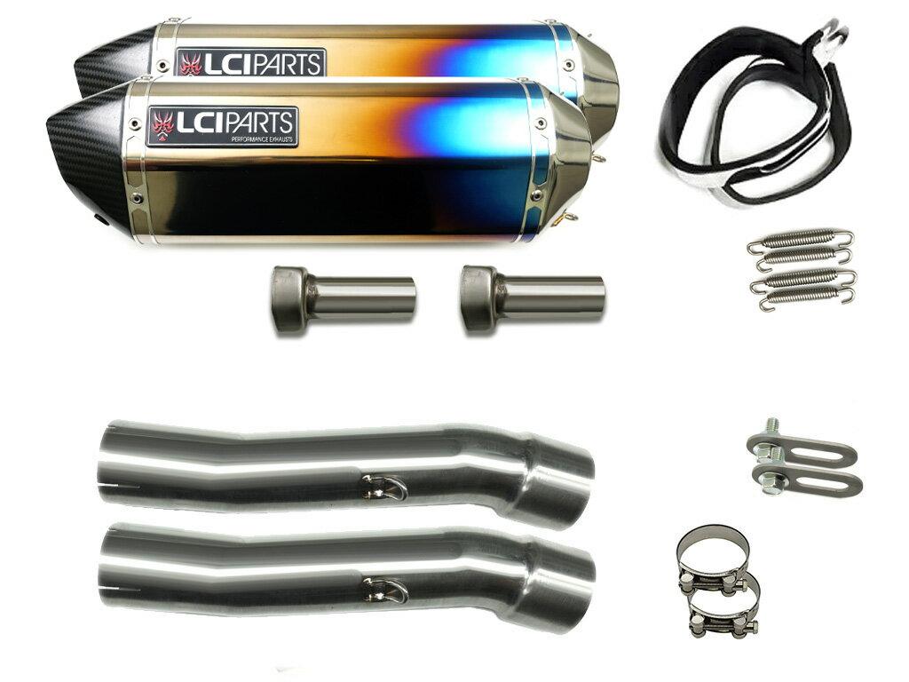 GPZ900R 1984-2003 LCIカーボンエンドチタンスリップオンマフラー
