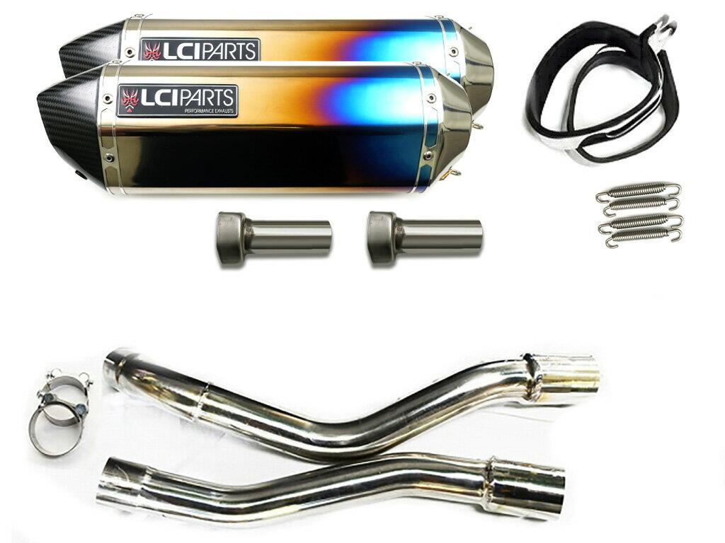 GSR250 /S/F 2012-2017 LCIカーボンエンドチタンスリップオンマフラー