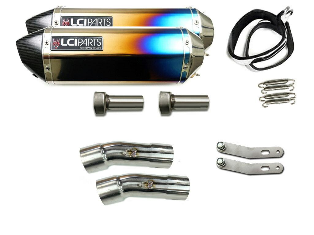 V-MAX1700 2009-2020 LCIカーボンエンドチタンスリップオンマフラー