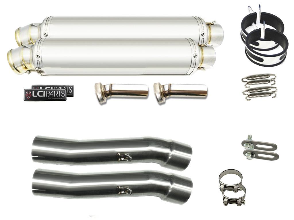 GPZ900R 1984-2003 LCIラウンドステンレススリップオンマフラー