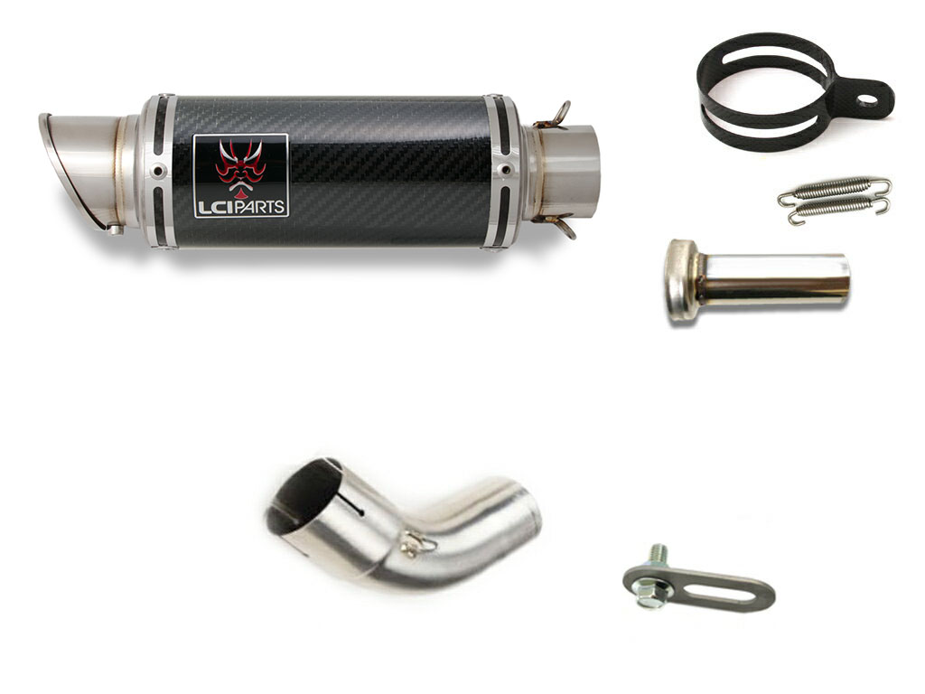 V-Strom1000 ABS Vストローム1000 2014-2020 LCIショートカーボンスリップオンマフラー