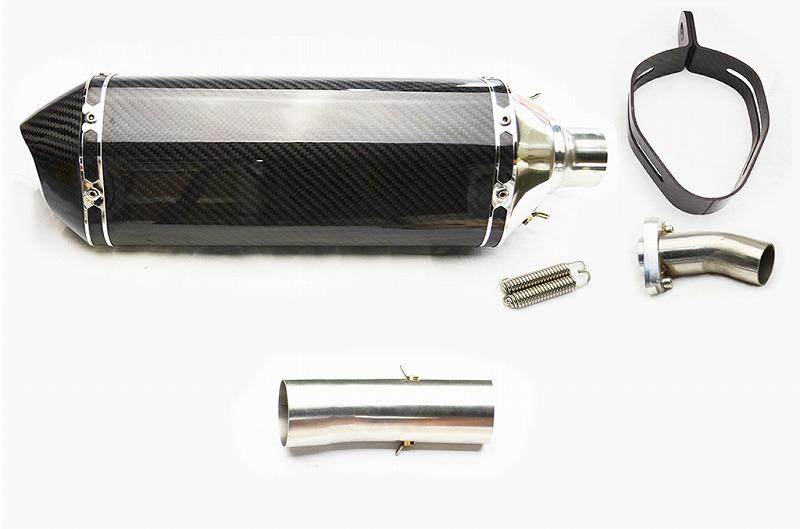 ZX6R ZX-6 R 2009-2012 LCI 카본 엔드 슬립 온 소음 장치