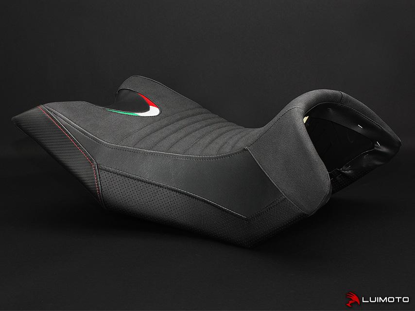 APRILIA CAPONORD 1200 13-18 LUIMOTO 製ライダーシートカバー (Team Italia 9111101)