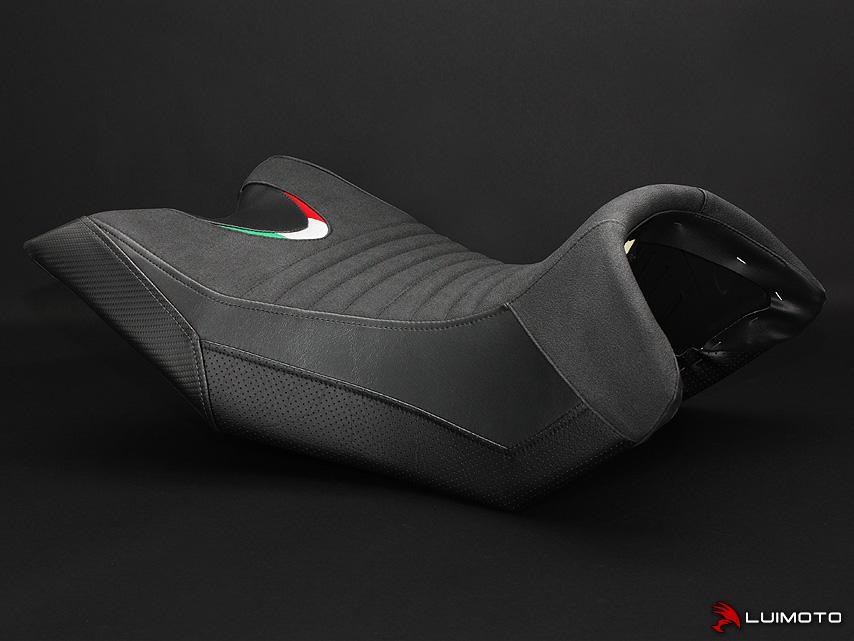 APRILIA CAPONORD 1200 13-18 LUIMOTO 製ライダーシートカバー (Team Italia 9111102)