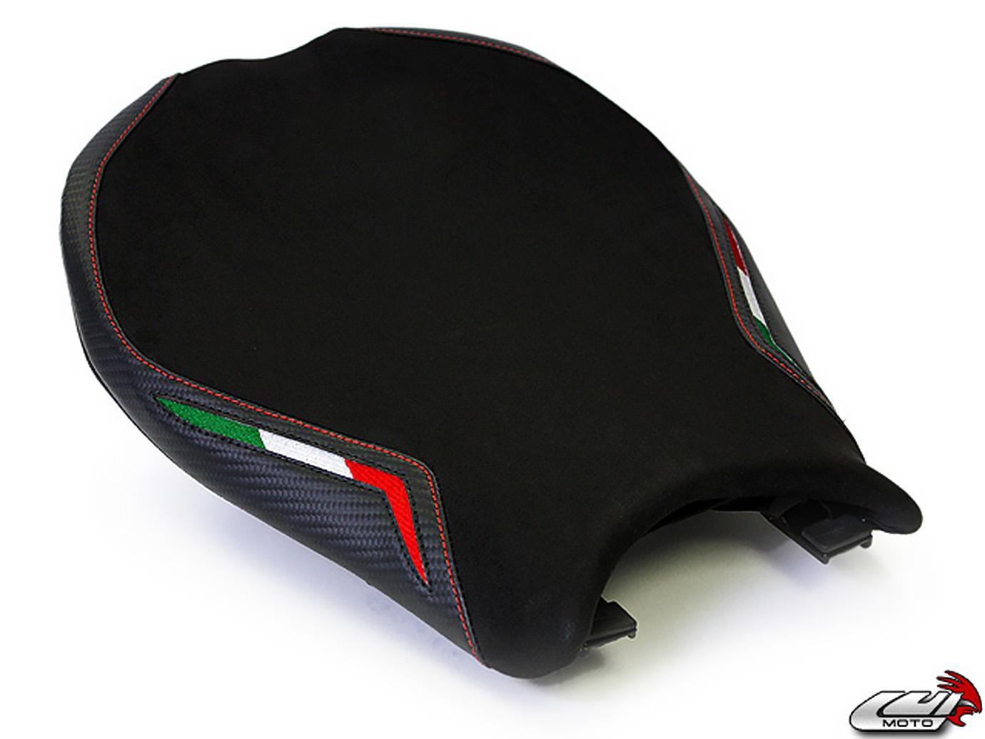 DUCATI 848 1098 1198 08-13 LUIMOTO 製ライダーシートカバー (Team Italia Suede 1053101)