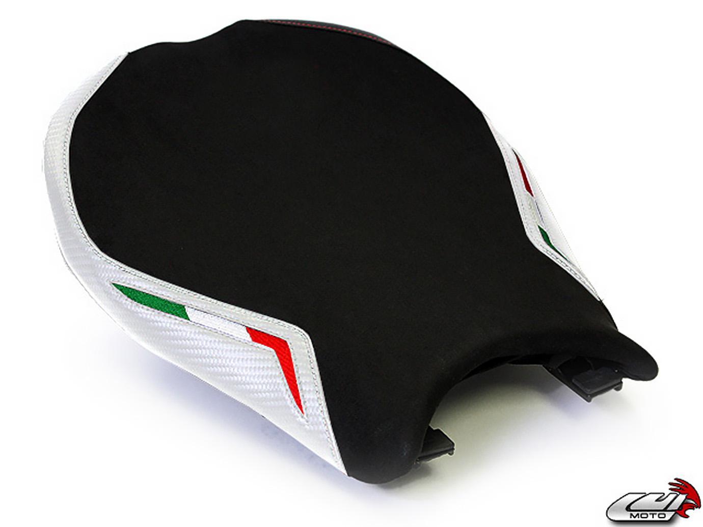 DUCATI 848 1098 1198 08-13 LUIMOTO 製ライダーシートカバー (Team Italia Suede 1053108)