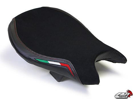 DUCATI STREETFIGHTER 09-15 LUIMOTO 製ライダーシートカバー (Team Italia Suede 1131101)