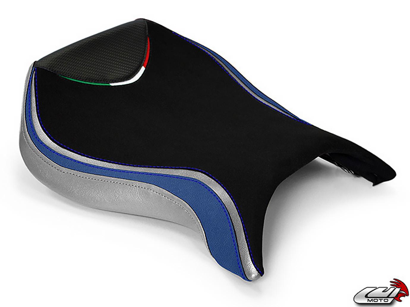 MV AGUSTA F4 99-09 LUIMOTO 製ライダーシートカバー (Team Italia Suede 7012103)